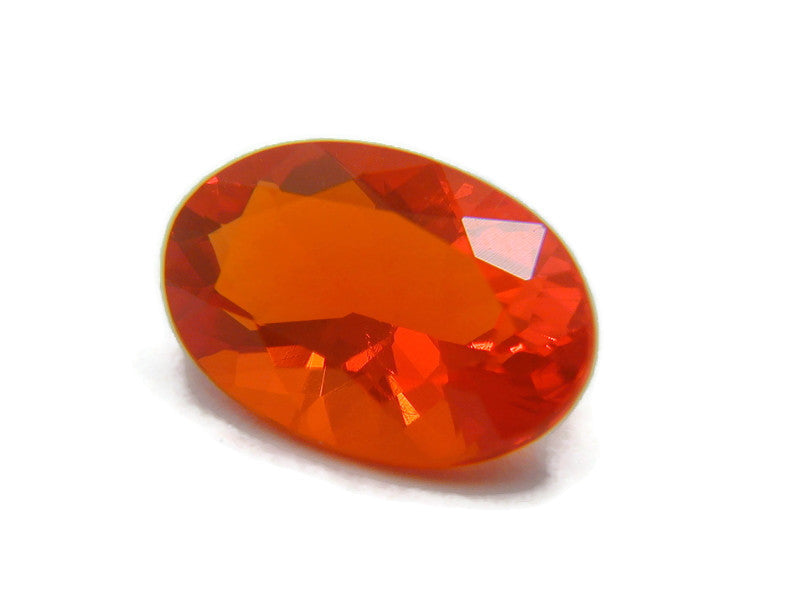 Natural Fire Opal Mexican Fire Opal October birthstone Fire Opal Gemstone Faceted Fire Opal Fire Loose Stone Oval 12x8mm 2.18 cts SKU:105205-opal-Planet Gemstones