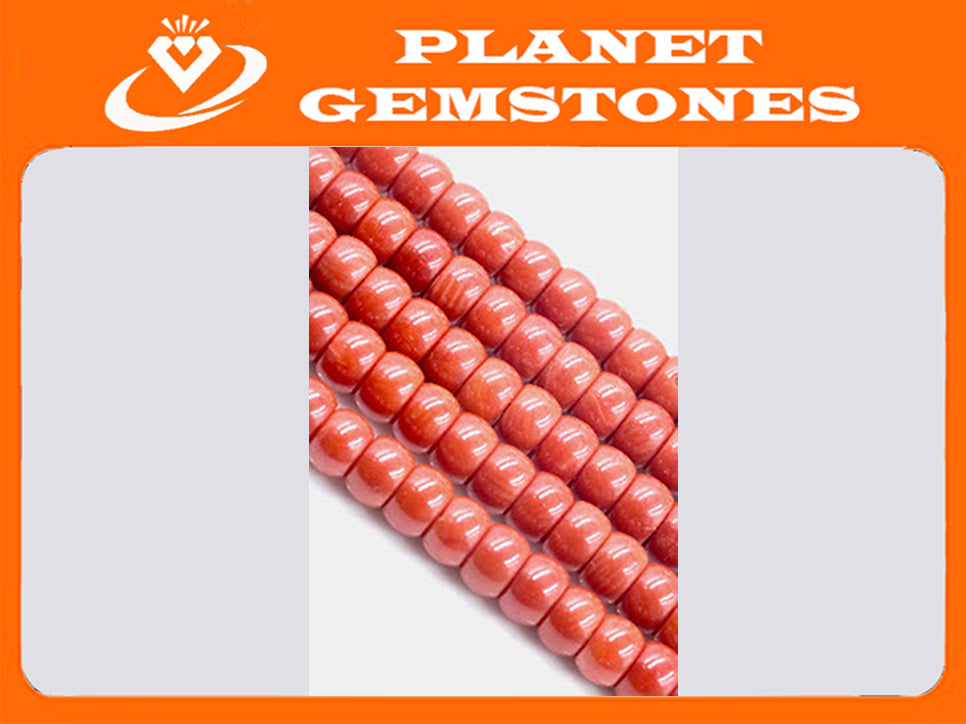 Natural Coral Beads Coral Necklace Italian Coral beads orange Coral Beads Coral Beads Orange Coral Beads Coral Bead Necklace SKU: 113145-Beads-Planet Gemstones