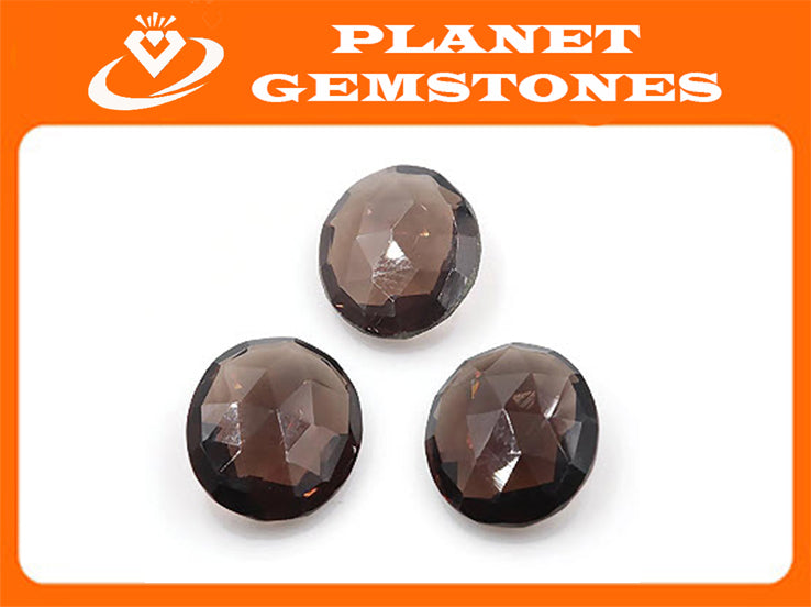 Natural Quartz Natural Smoky Quartz Smoky Vintage Quartz DIY Jewelry Loose Stone Smoky Quartz Smokey Quartz Oval 14x12mm 15ct SKU:113052-Planet Gemstones