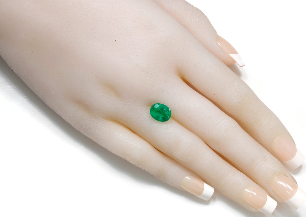 Natural Emerald Colombian Emerald May Birthstone Genuine Emerald Emerald Gemstone Emerald Green Emerald Oval10x8 mm SKU:114539-Emerald-Planet Gemstones