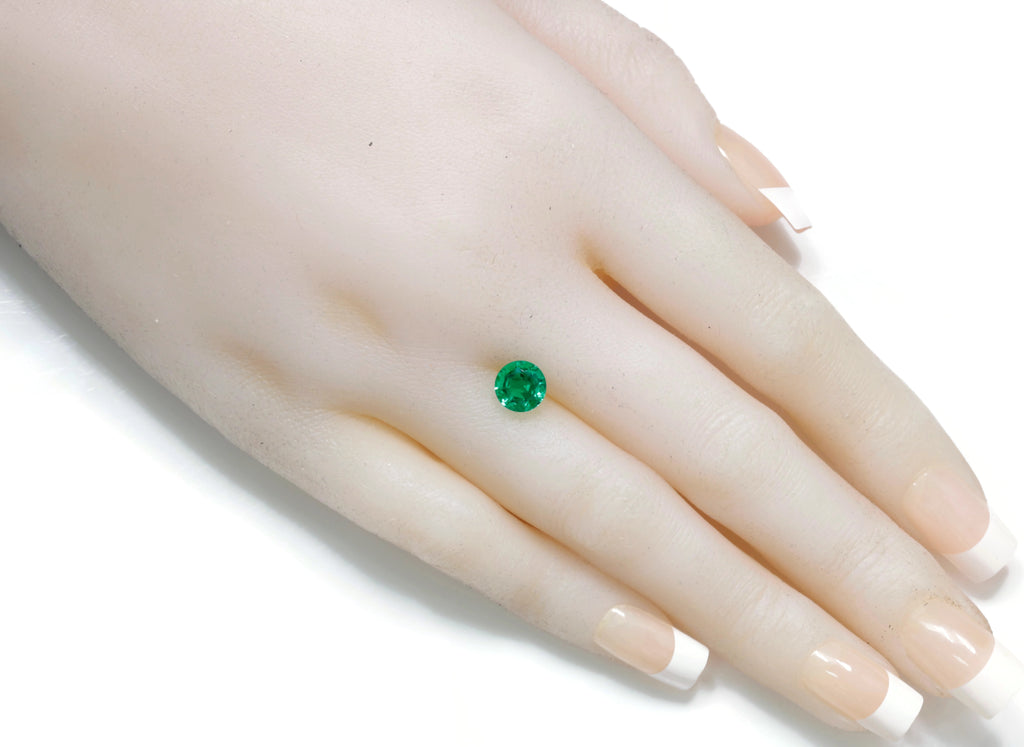 Natural Emerald Colombian Emerald May Birthstone Genuine Emerald Emerald Gemstone Emerald Green Emerald Round cut 7mm 1.29ct SKU:114543-Emerald-Planet Gemstones
