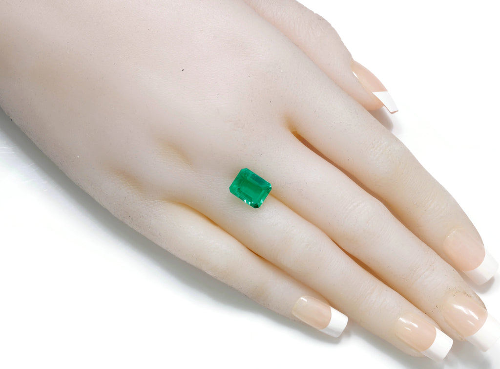 Natural Emerald Colombian Emerald May Birthstone Genuine Emerald Emerald Gemstone Emerald Green Emerald cut 10x8mm 3.13ct SKU:114544-Emerald-Planet Gemstones