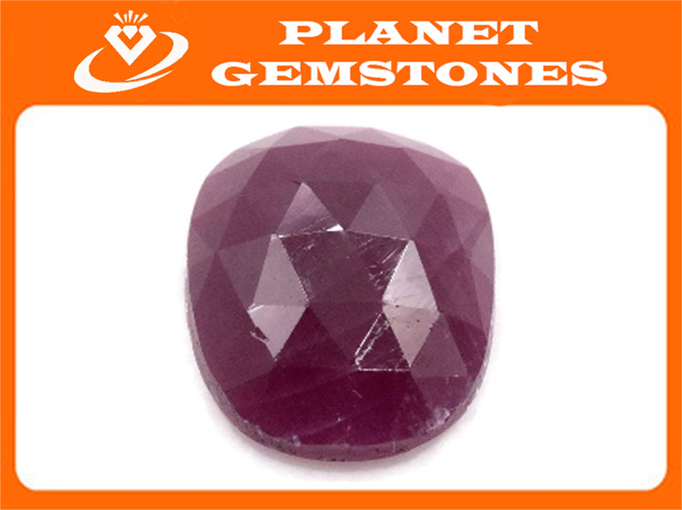 Natural Ruby DIY Jewelry Supply Ruby July Birthstone Rose Cut Ruby Gemstone Genuine Ruby Genuine Ruby 5.77ct 12x10mm Ruby Rose cut-Ruby-Planet Gemstones