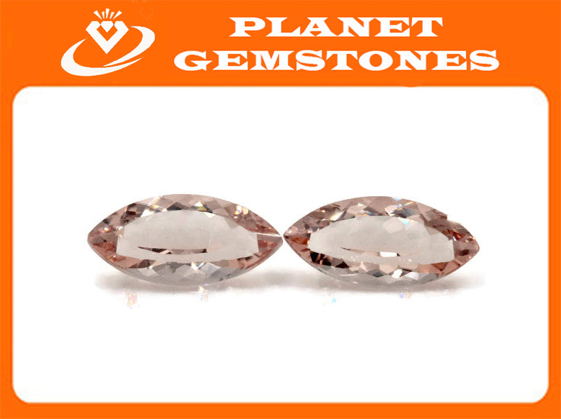Morganite Natural Morganite Pink Morganite Morganite Morganite Loose Morganite Gemstone Morganite Peach Morganite Marquise 12x6mm 1.71ct-Planet Gemstones