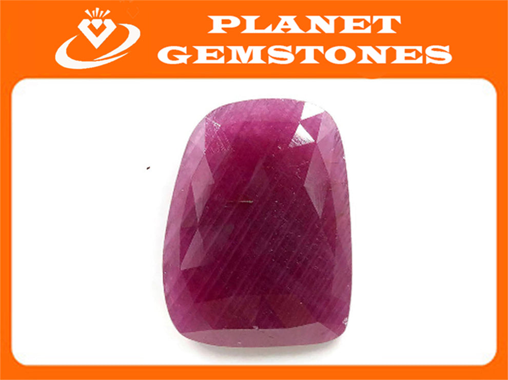 Natural Ruby DIY Jewelry Supply Ruby July Birthstone Rose Cut Ruby Gemstone Genuine Ruby Ruby pair 19.43ct 22x17mm Ruby Rose cut-Ruby-Planet Gemstones