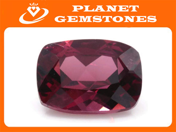 Natural Red Garnet 8x6mm Cushion 1.70ct January Birthstone Faceted Garnet gemstone DIY Red Garnet gemstone SKU:113023-Planet Gemstones