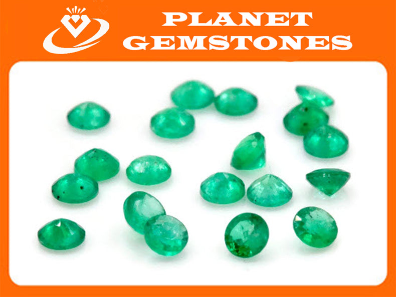 Emerald Natural Emerald May Birthstone Zambian Emerald Round Emerald Diy Jewelry Supplies Emerald Gemstone 0.078ct 2.75mmEmerald green-Emerald-Planet Gemstones