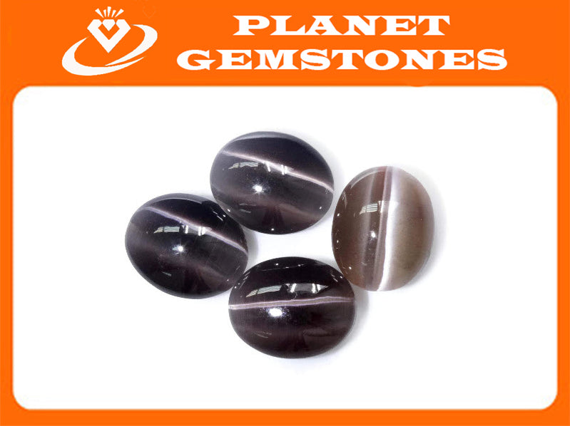 Natural Sillimanite Cats Eye Gemstone sillimanite genuine sillimanite sillimanite stone DIY Sillimanite Cats Eye OV 11x9mm, 4.50ct-Planet Gemstones
