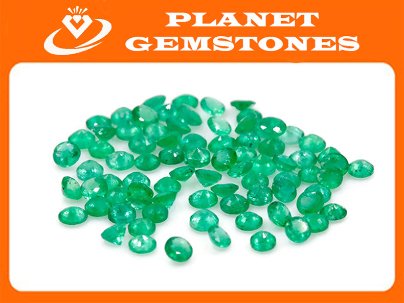 Emerald Natural Emerald May Birthstone Zambian Emerald Round Emerald Diy Jewelry Supplies Emerald Gemstone 0.082ct 2.25mm Emerald green-Emerald-Planet Gemstones