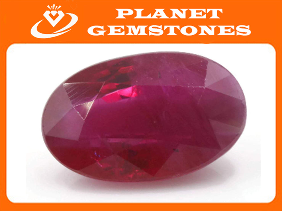 Natural Ruby Ruby Gemstone DIY Jewelry Ruby Loose Stone July Birthstone Ruby Natural Gemstone Ruby Loose Stone 9x6mm OV 2.13 ct-Ruby-Planet Gemstones