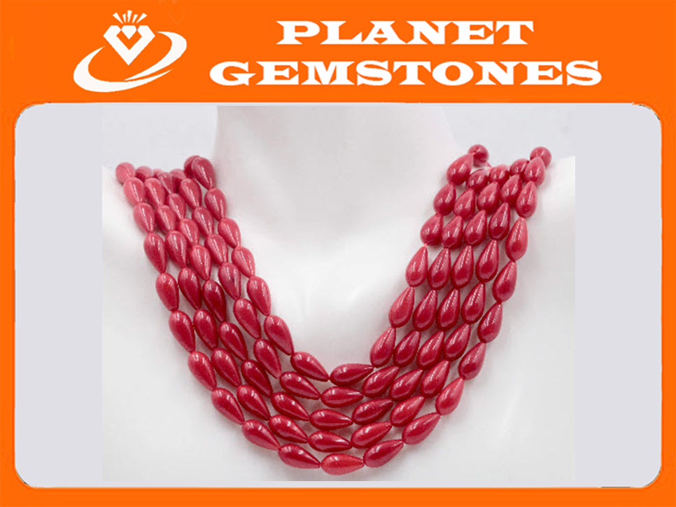 Natural Coral Beads Coral Necklace Italian Coral beads Red Coral Beads Coral Beads Red Coral Beads Coral Bead Necklace 16 Inch SKU: 00108794-Planet Gemstones