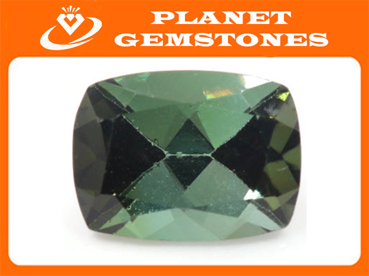 Natural Tourmaline Green Tourmaline DIY Jewelry Supply Tourmaline October birthstone Tourmaline Tourmaline Approx 1ct CUS 8x6mm SKU:113193-Tourmaline-Planet Gemstones
