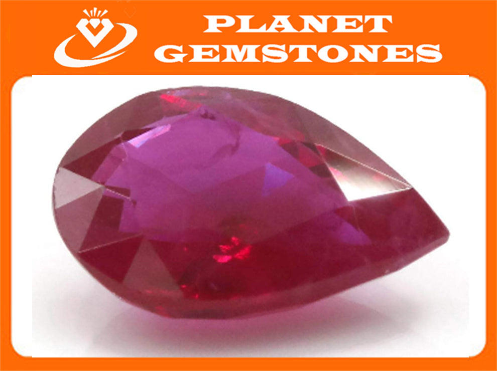 Natural Ruby Ruby Gemstone DIY Jewelry Ruby Loose Stone July Birthstone Ruby Natural Ruby Gemstone Faceted Genuine Ruby 1.09ct 8x6mm-Ruby-Planet Gemstones