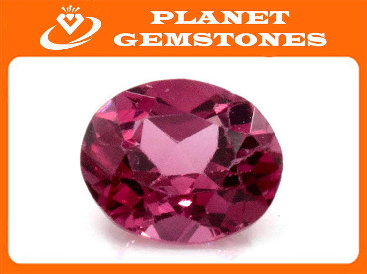 Natural Red Spinel Gemstone Genuine Spinel August birthstone Spinel Oval faceted 6x5mm Pink Spinel 1 stone 0.77ct Spinel Loose stone-Planet Gemstones