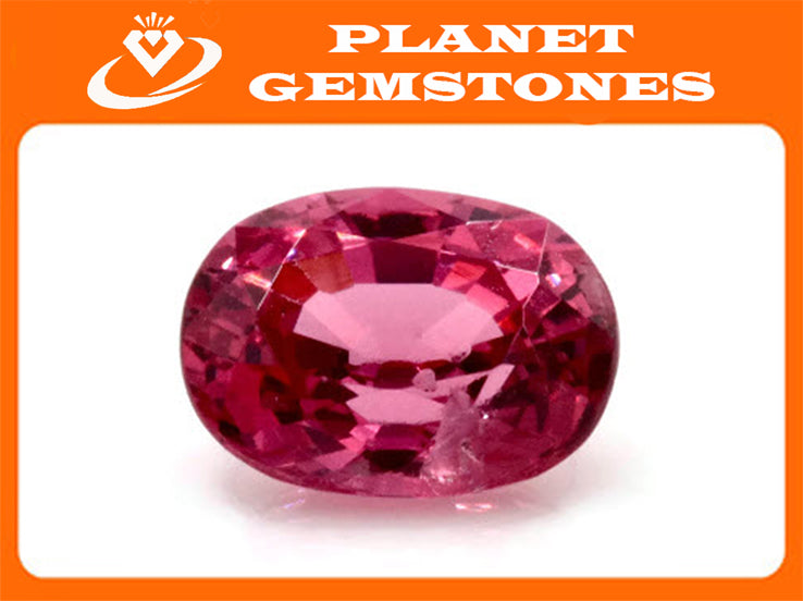 Natural Red Spinel Gemstone Genuine Spinel August birthstone Spinel Oval faceted 6.5x5mm Pink Spinel 1 stone 0.97ct Spinel Loose stone-Planet Gemstones