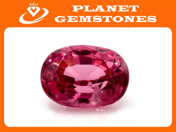 Natural Red Spinel Gemstone Genuine Spinel August birthstone Spinel Oval faceted 6x5mm Pink Spinel 1 stone 0.72ct Spinel Loose stone-Planet Gemstones
