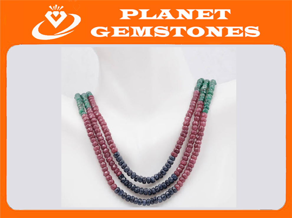 Genuine ruby beads Ruby bead necklace ruby gemstone beads ruby fuchsite beads necklace for women ruby necklace 2-3mm, 15 inch long SKU:108745,108746-Ruby-Planet Gemstones