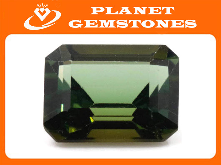 Natural Tourmaline Green Tourmaline DIY Jewelry Supply Tourmaline October birthstone Black Tourmaline Tourmaline 1.94ct 8x7x4.6mm-Tourmaline-Planet Gemstones