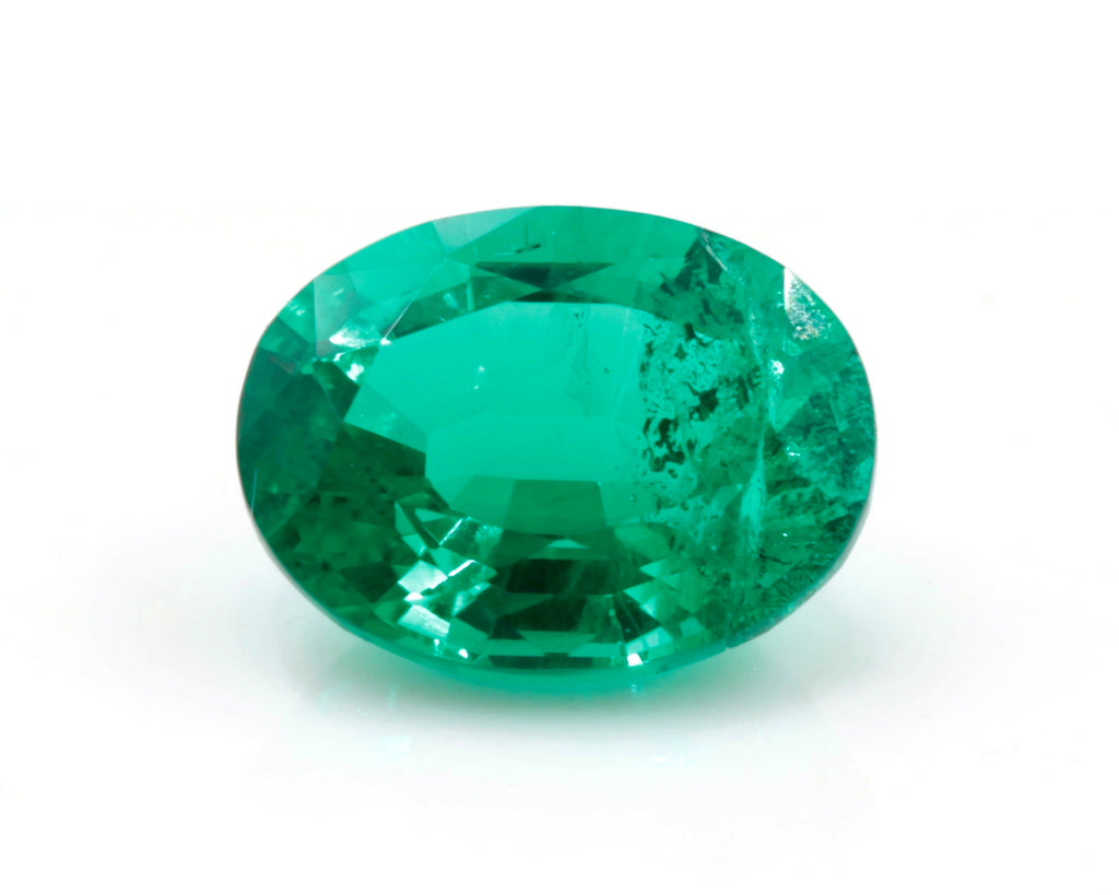 Natural Emerald Colombian Emerald May Birthstone Genuine Emerald Emerald Gemstone Emerald Green Oval cut 8x6mm 1.32ct SKU: 114545-Emerald-Planet Gemstones