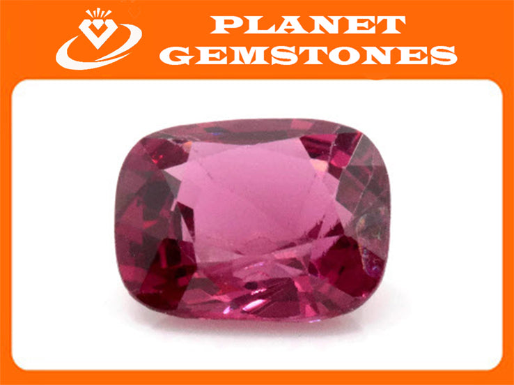 Natural Red Spinel Gemstone Genuine Spinel August birthstone Pink SPINEL faceted Pink Spinel CUShion 8x6.5mm 1.59ct Loose Stone-Planet Gemstones