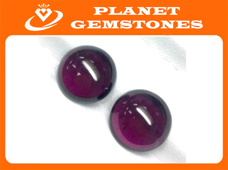 Garnet Natural Garnet January Birthstone Purple Garnet Garnet gemstone Rhodolite Garnet Garnet cabochon Red garnet DIY 12mm 14.9ct-Planet Gemstones
