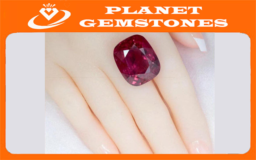 Natural Tourmaline Rubillite Tourmaline Tourmaline October birthstone Red Tourmaline Tourmaline Pink 23X19mm 46.40ct SKU:00104356-Tourmaline-Planet Gemstones
