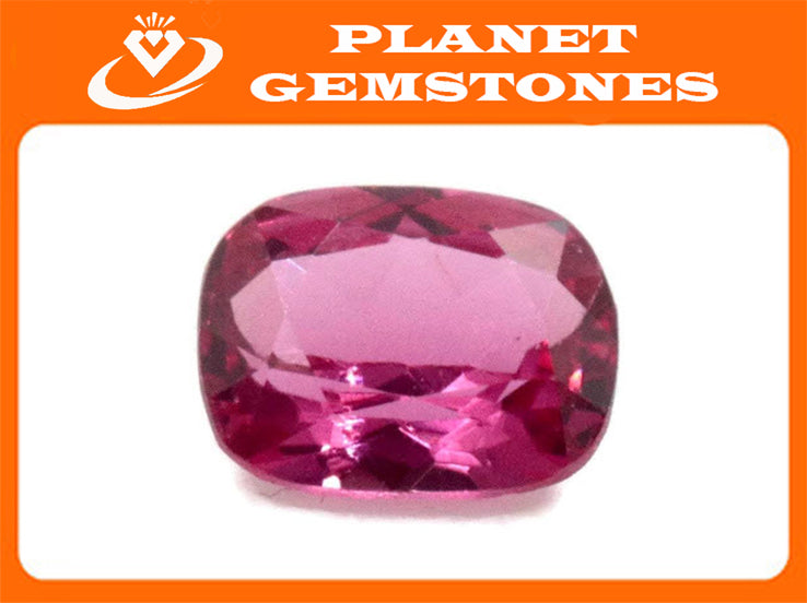 Natural Spinel Spinel Gemstone Genuine Spinel August birthstone Pink SPINEL faceted Pink Spinel CUShion 6x5mm 0.75ct Loose Stone-Planet Gemstones