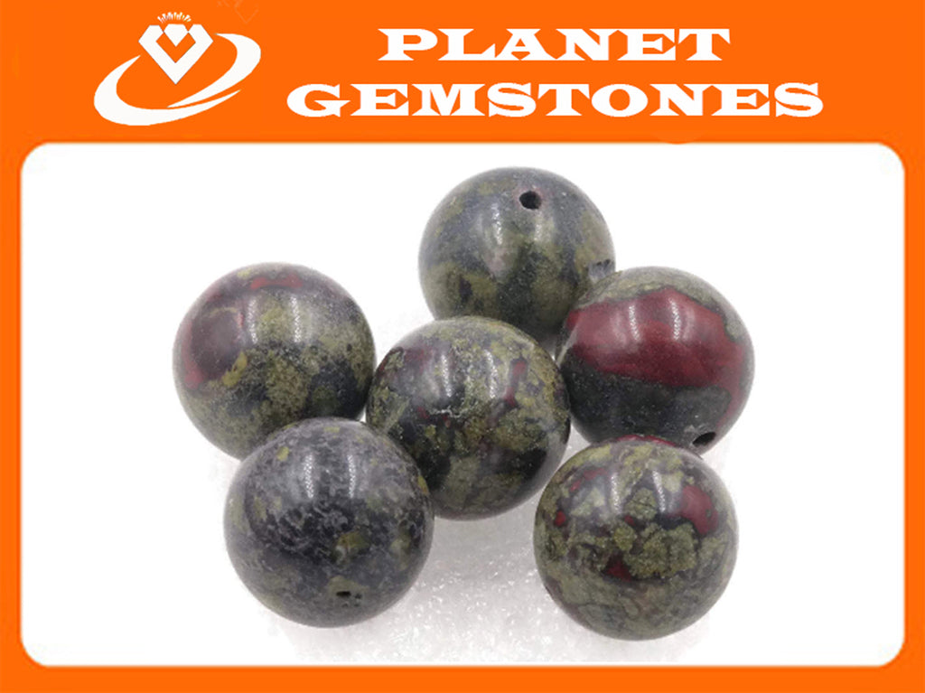 Natural Green Agate Beads RD 14mm 6pcs SET DIY Jewelry Supplies 139ct Agate beads-Planet Gemstones