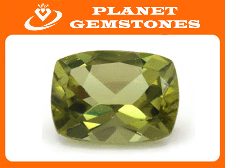 Natural Green Peridot Gemstone CUS 8x6mm 1.50ct August Birthstone DIY Jewelry Supplies Loose Gemstone Genuine Peridot SKU:113028-Planet Gemstones