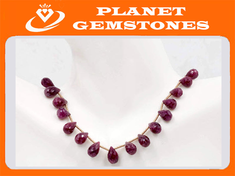 Genuine ruby beads Ruby bead necklace ruby gemstone beads ruby fuchsite beads necklace for women ruby necklace SKU: 00108701,00111328-Ruby-Planet Gemstones