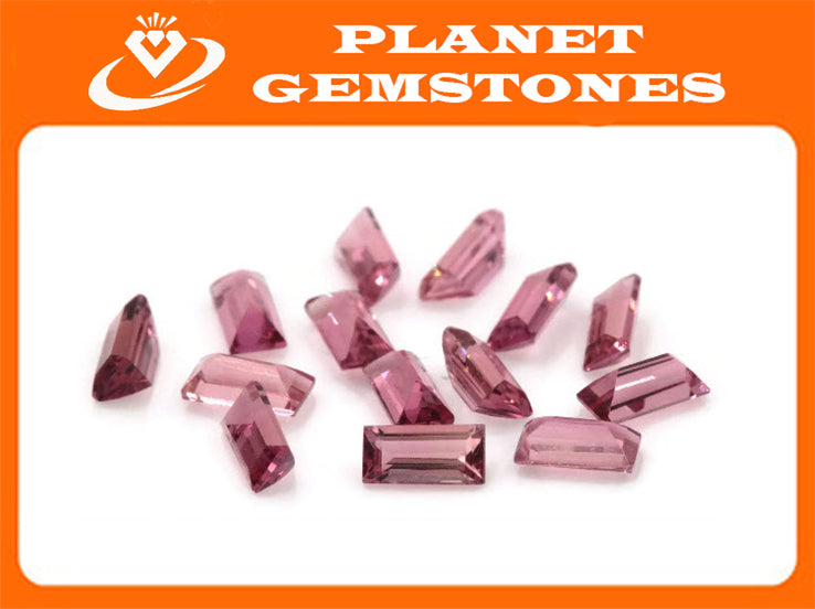 Natural Tourmaline Pink Tourmaline October Birthstone DIY Jewelry Supply Black Tourmaline Tourmaline Tourmaline Pink 3.24ct 5x2.5mm-Tourmaline-Planet Gemstones