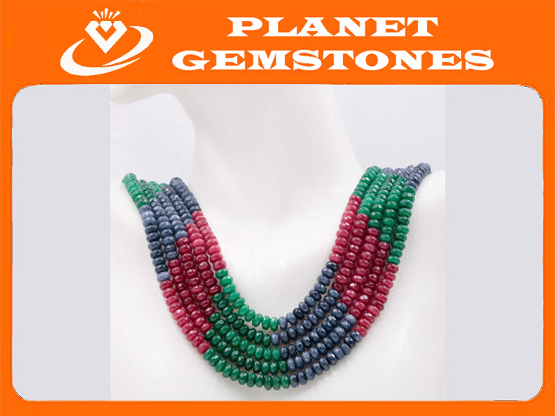 Genuine Emerald Beads Emerald Necklace Green gemstone Beads Emerald Gemstone Beads Green Jade Necklace Jade Bead NecklaceSKU:113269-Emerald-Planet Gemstones