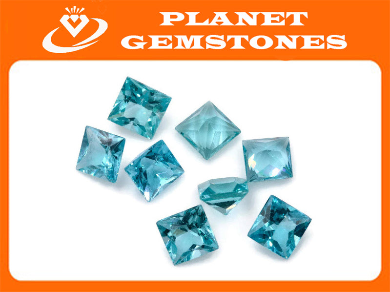 Natural Neon Apatite Gemstone Apatite faceted loose stone Genuine Apatite stone Natural Apatite oval Apatite faceted stone 5mm 0.76ct-Planet Gemstones