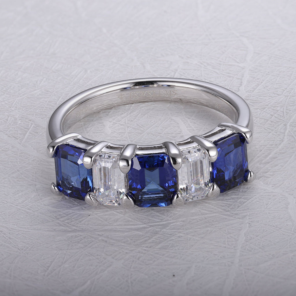 Women's Sapphire semi band reversible ring SKU 6142092-Planet Gemstones