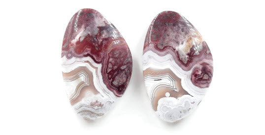 Agate Natural agate Agate Rose cut gemstone agate cab Agate DIY Jewelry Supply AGATE Chalcedony Matching 32x20mm landscape agate-Planet Gemstones