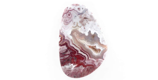 Agate Natural agate Agate Rose cut gemstone agate cab Agate DIY Jewelry Supply AGATE Chalcedony 40x26mm landscape agate-Planet Gemstones
