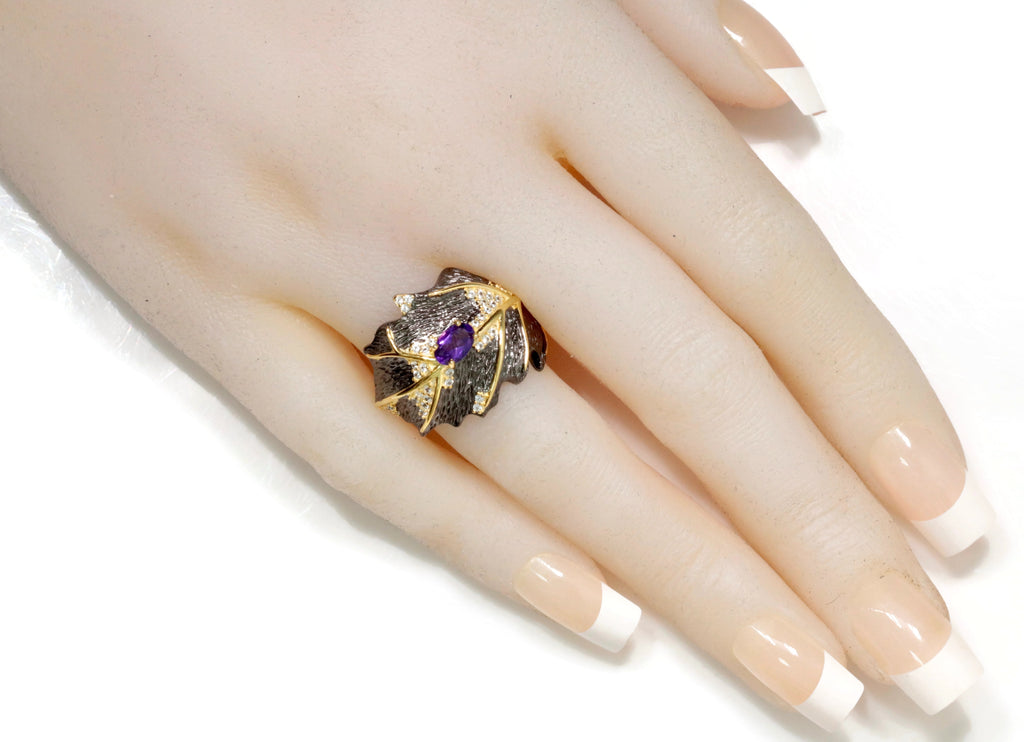 Amethyst Ring Amethyst Jewelry Amethyst Ring Natural Amethyst Genuine Amethyst Jewelry February Birthstone Silver Jewelry SKU:6142044-AMETHYST-Planet Gemstones