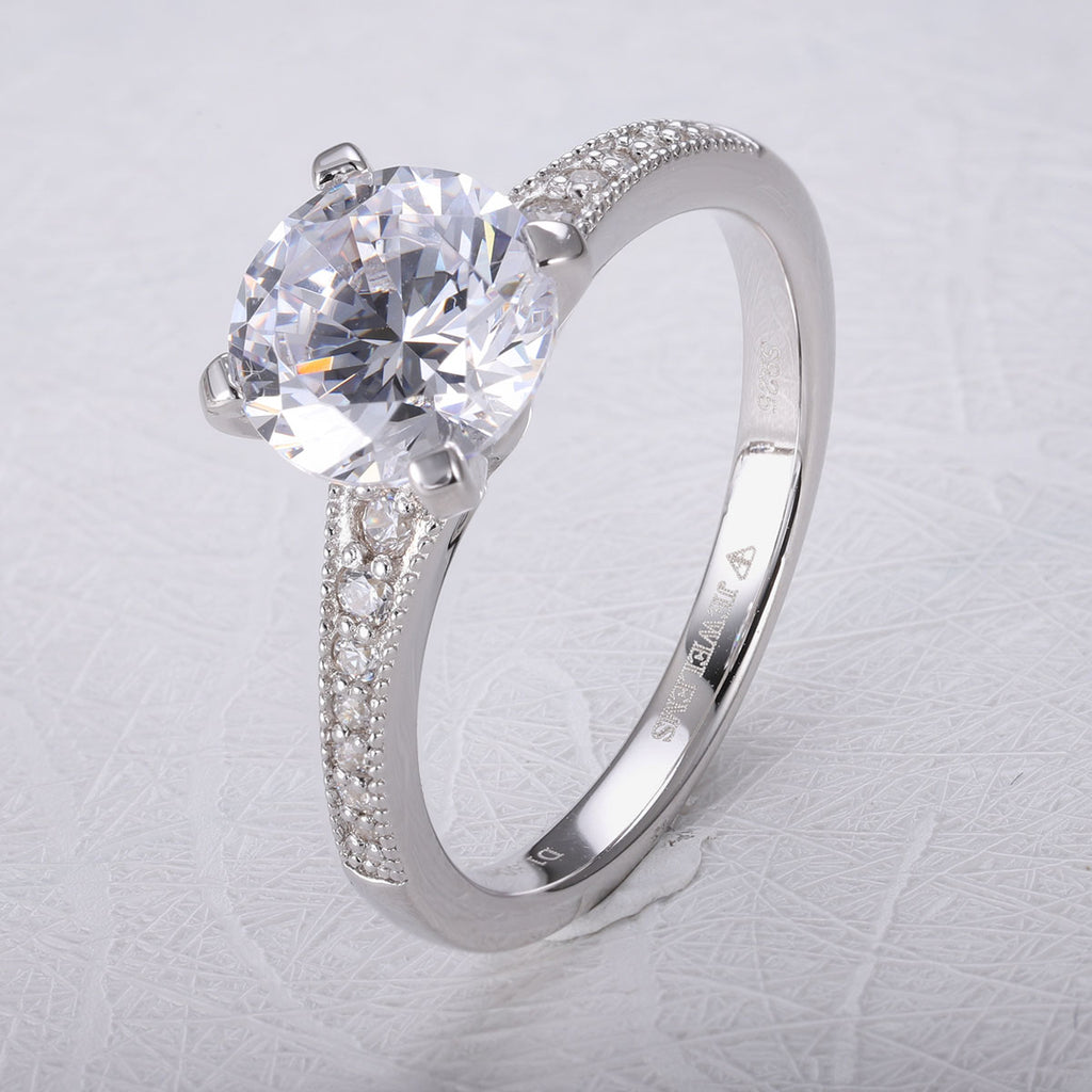 Ladies luxury daily use solitaire Jewelems stones ring 1-2ct-Planet Gemstones