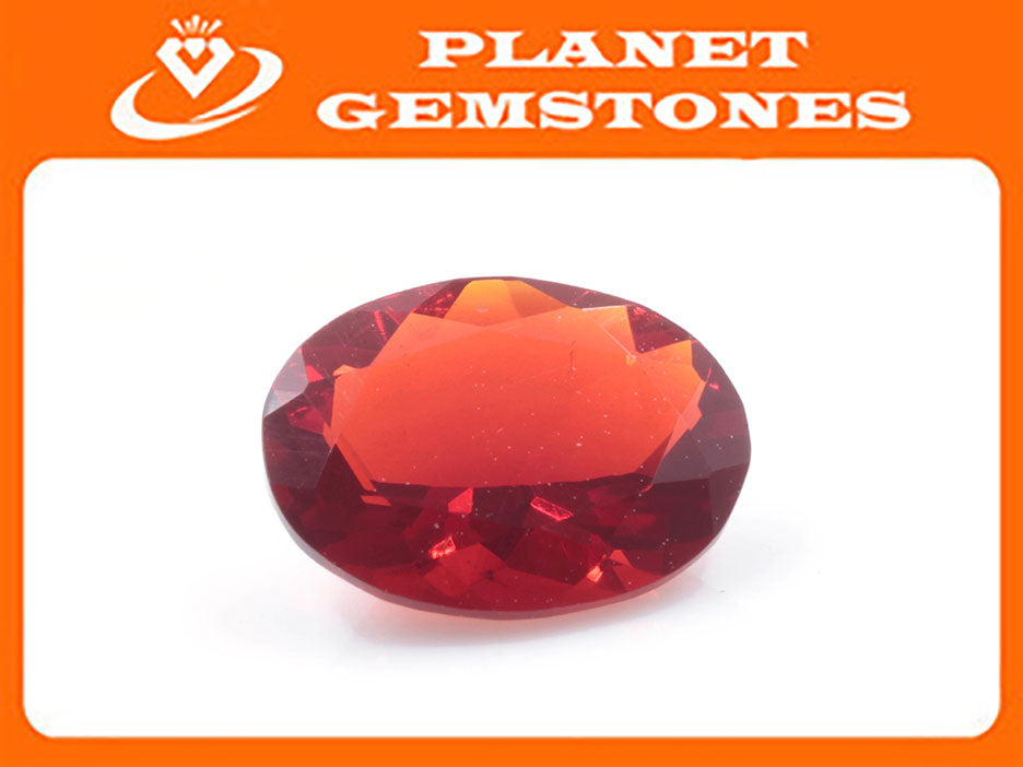 Natural Fire Opal Mexican Fire Opal October birthstone Fire Opal Gemstone Faceted Fire Opal OV 8X6mm Fire Opal Loose Stone SKU:114530-opal-Planet Gemstones