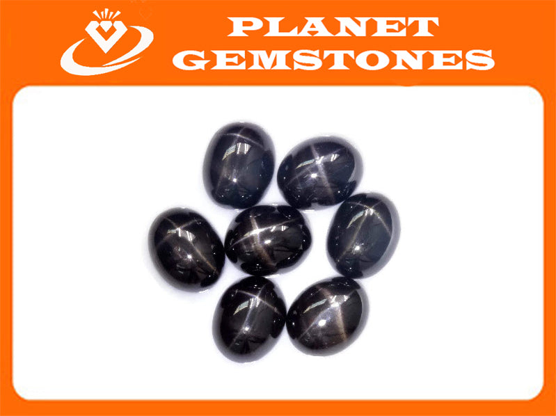 Natural Diopside Star Diopside Black Star Diopside DIY Jewelry Supplies Diopside September birthstone 10x8mm 3.6ct OV DIY Jewelry Supply-Planet Gemstones