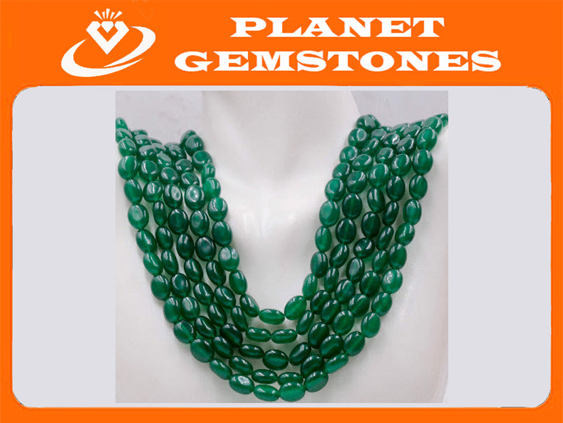 Genuine Emerald Beads Emerald Necklace Green gemstone Beads Emerald Gemstone Beads Green Jade Necklace Jade Bead Necklace SKU:114338-Emerald-Planet Gemstones