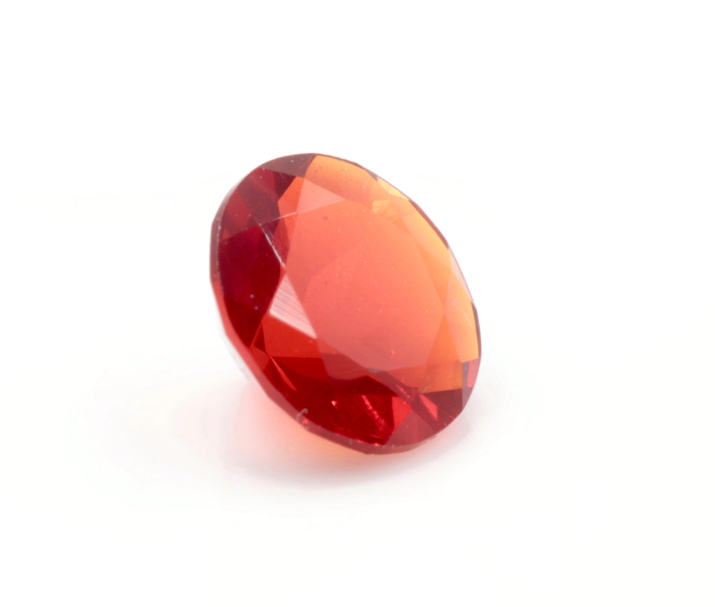 Natural Fire Opal Mexican Fire Opal October birthstone Fire Opal Gemstone Faceted Fire Opal RD 6mm Fire Opal Loose Stone SKU:114526-opal-Planet Gemstones