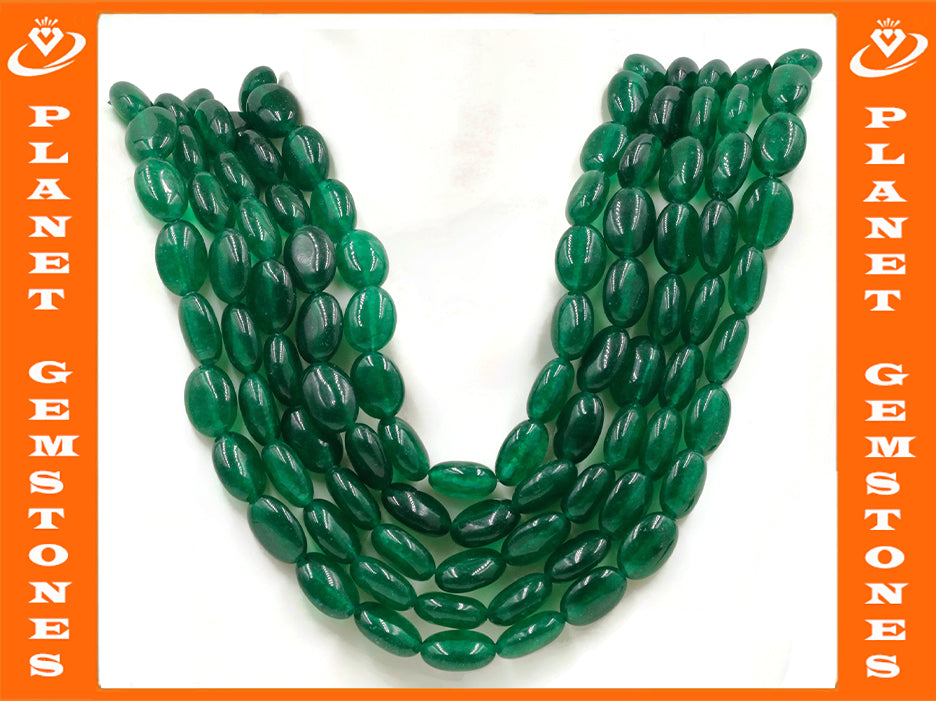 Natural Emerald Green Jade Necklace Green Jade Necklace Emerald Green Jade Beads Green Gemstone beads Jade stone beads SKU:113213,114637-Emerald-Planet Gemstones