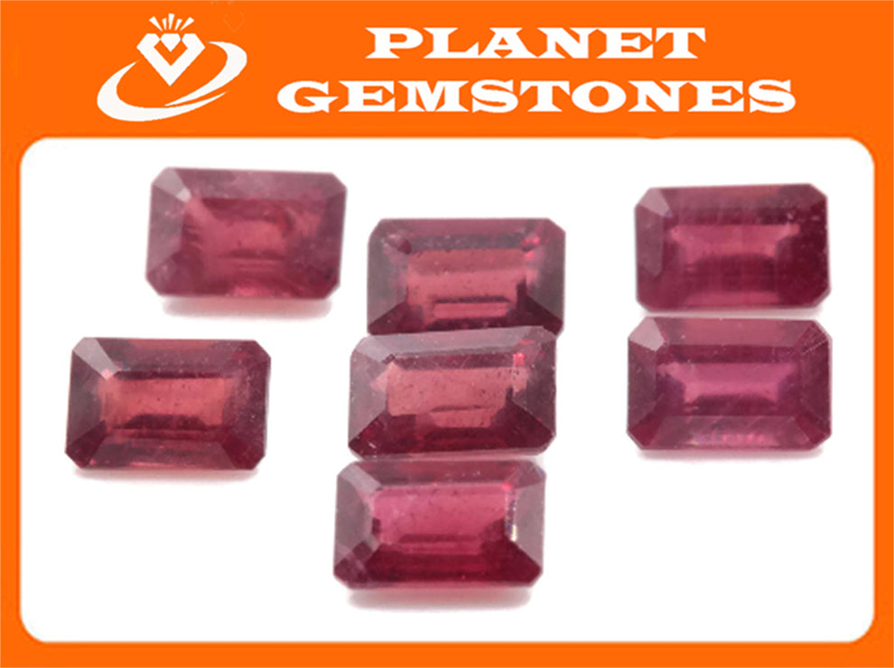 Natural Ruby Ruby Gemstone DIY Jewelry Ruby Loose Stone July Birthstone Ruby Natural Gemstone Faceted Ruby Ruby Octagon 0.90ct 6x4mm-Ruby-Planet Gemstones