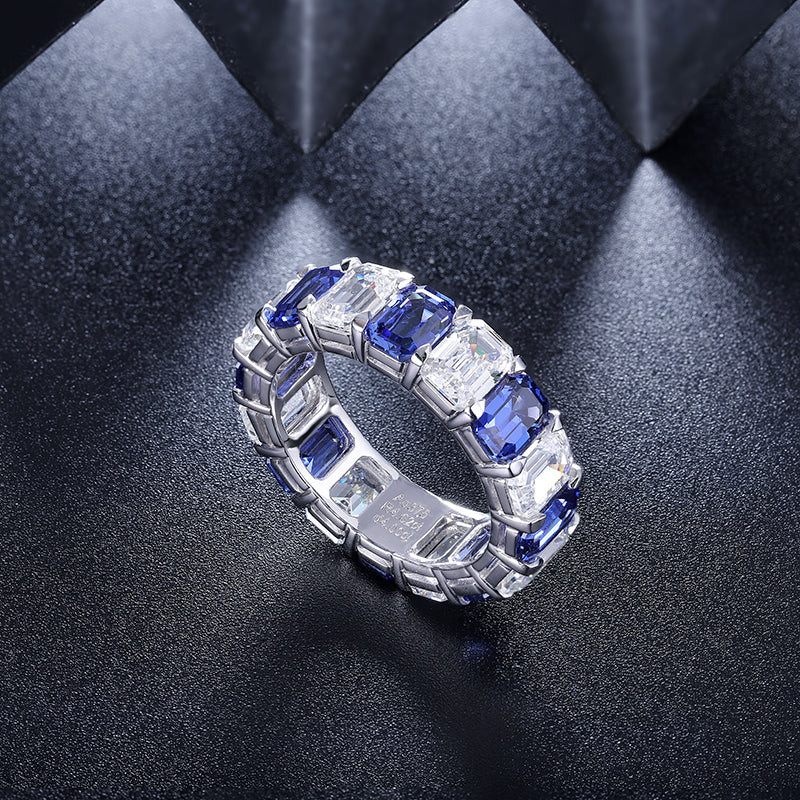 Women's Sapphire Full Band Ring SKU:6142037-Planet Gemstones