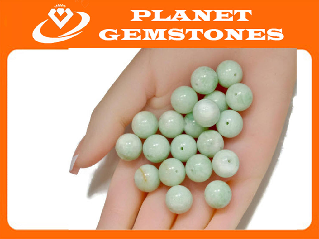 AMAZONITE Amazonite beads DIY Jewelry Amazonite Necklace Green Amazonite Natural amazionite 13mm round DIY Jewelry Supplies-Planet Gemstones
