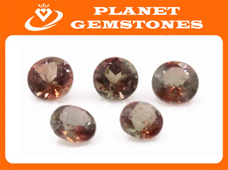 Natural Andalusite Andalusite Gemstone Genuine Andalusite Poor Man Alexandrite Faceted Andalusite DIY ANDALUSITE 5PCS SET 2.5mm 0.45ct-Planet Gemstones