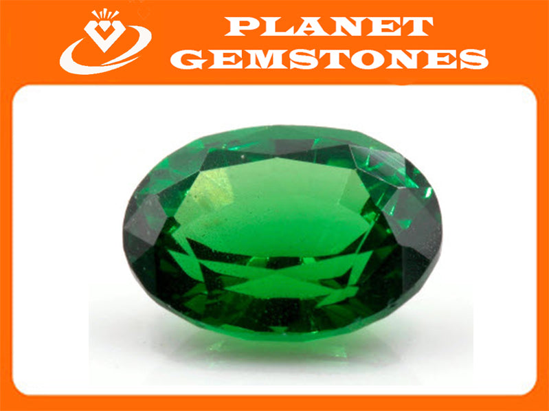 Tsavorite Natural Tsavorite Garnet January Gemstone Green Garnet Tsavorite 8.4x6.4mm OV Tsavorite Garnet Loose Stone 1.88ct SKU:113135-Planet Gemstones