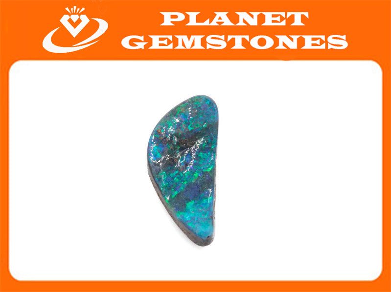 Natural Australian Boulder Opal Genuine Opal Stone Aussie Boulder Opal Stone 3.26ct DIY Jewelry Supplies-Planet Gemstones