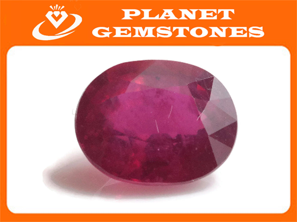 Natural Ruby Ruby Gemstone DIY Jewelry Ruby Loose Stone July Birthstone Ruby Natural Ruby Gemstone Genuine Ruby 5.49ct 11x9mm-Ruby-Planet Gemstones